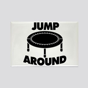 Jump Around Trampoline Rectangle Magnet