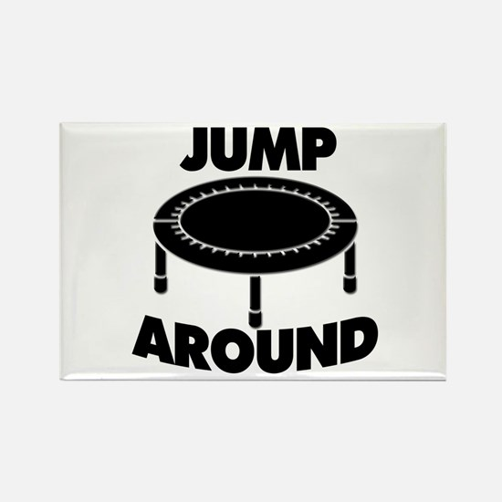 Jump Around Trampoline Rectangle Magnet