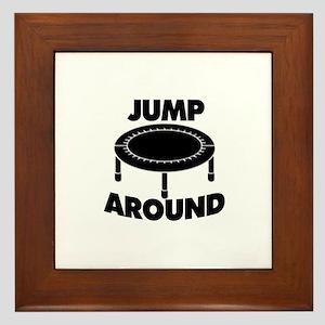 Jump Around Trampoline Framed Tile