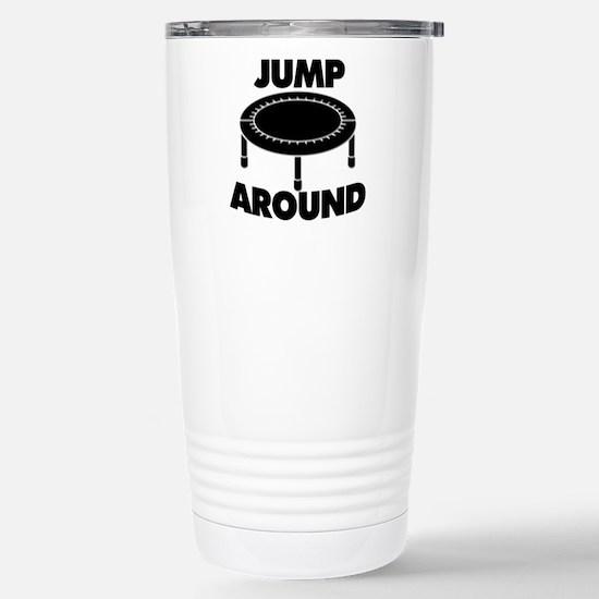 Jump Around Trampoline Stainless Steel Travel Mug
