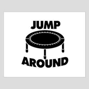 Jump Around Trampoline Small Poster