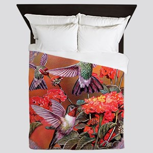 3 Hummingbirds Queen Duvet