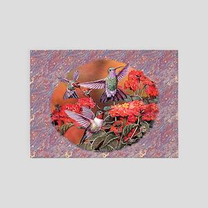 3 Hummingbirds 5'x7'Area Rug