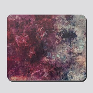 Watercolor / acrylic in purple and gray Mousepad
