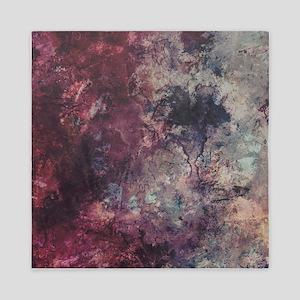 Watercolor / acrylic in purple and gra Queen Duvet