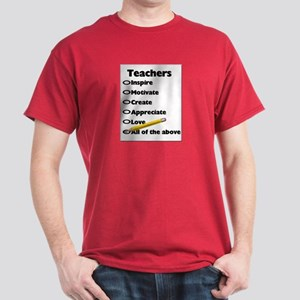 Gifts for Teachers Dark T-Shirt