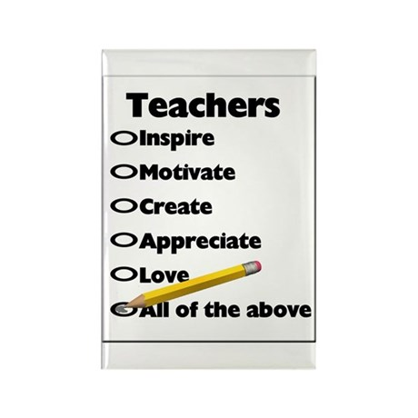 Gifts for Teachers Rectangle Magnet (100 pack)