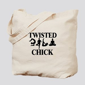 Twisted Yoga Chick Tote Bag