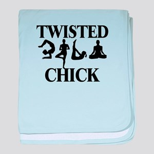Twisted Yoga Chick baby blanket