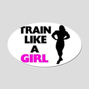 Train Like A Girl 20x12 Oval Wall Decal