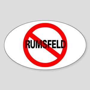 No Rumsfeld Oval Sticker