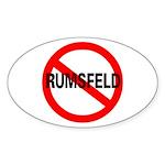 No Rumsfeld Oval Sticker