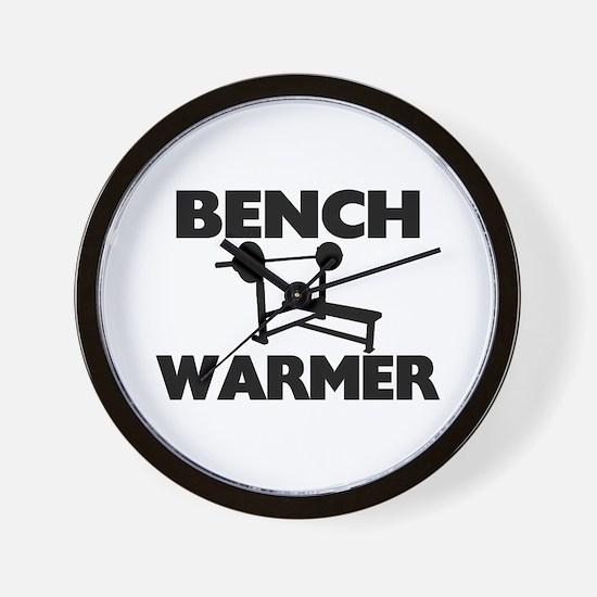 Bench Warmer Wall Clock