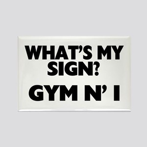 What's My Sign Gym N' I Rectangle Magnet