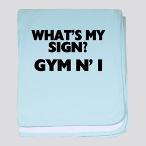 What's My Sign Gym N' I baby blanket