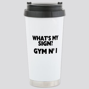 What's My Sign Gym N' I Stainless Steel Travel Mug