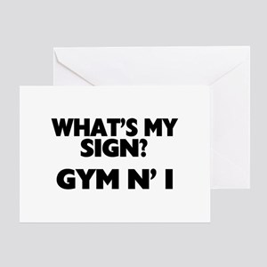 What's My Sign Gym N' I Greeting Card