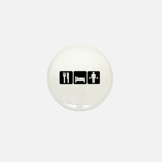 Man Eat Sleep Lift Weights Mini Button