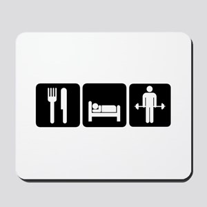 Man Eat Sleep Lift Weights Mousepad