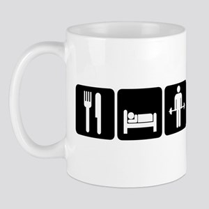 Man Eat Sleep Lift Weights Mug