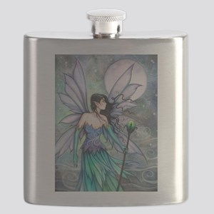 Cry of the Wind Fairy Fantasy Art Flask