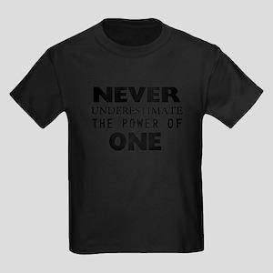 Never Underestimate The Power Of Kids Dark T-Shirt