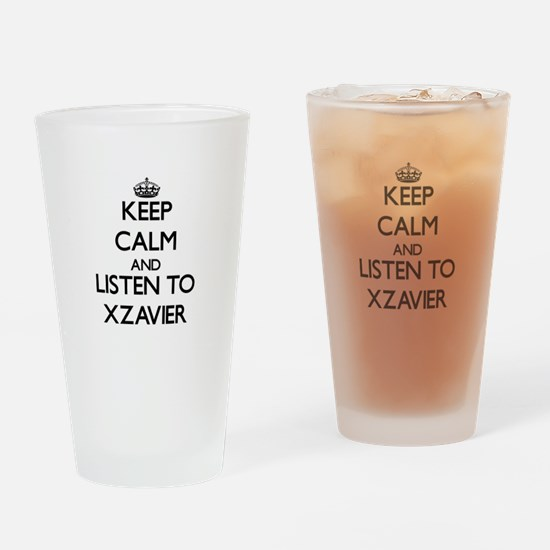 Keep Calm and Listen to Xzavier Drinking Glass