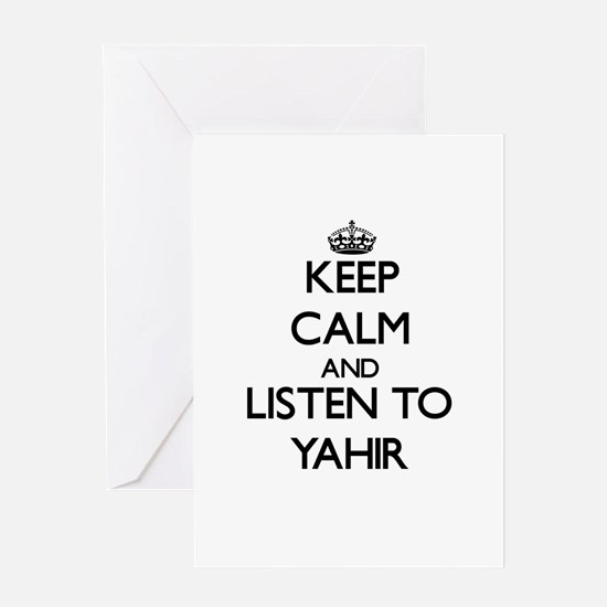 Keep Calm and Listen to Yahir Greeting Cards