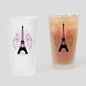 Eiffel Tower Gradient Swirl Design Drinking Glass