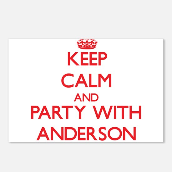 Keep calm and Party with Anderson Postcards (Packa