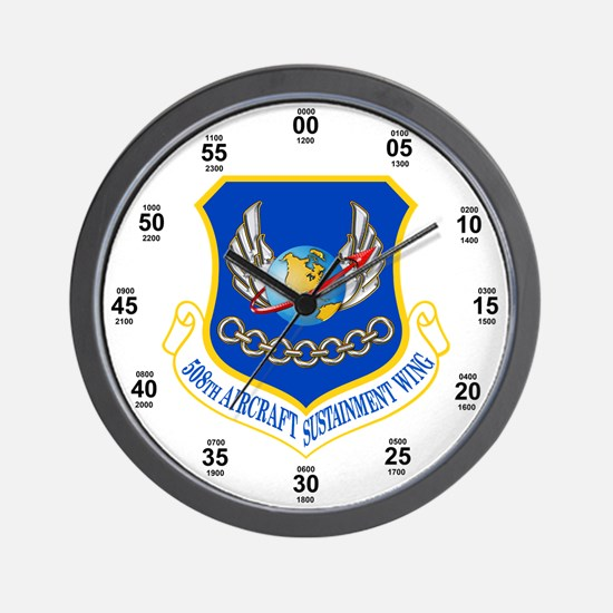 508th Aerospace Sustainment Wing Wall Clock
