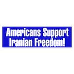 Americans Support Iranian Freedom!Bumper Sticker