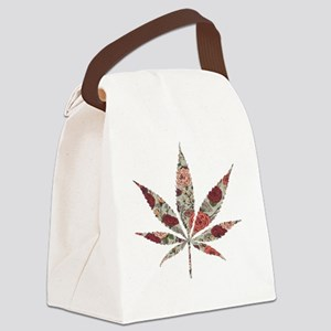 weed rose leaf Canvas Lunch Bag