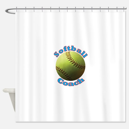 Softball Coach Shower Curtain