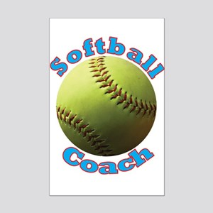 Softball Coach Posters Mini Poster Print