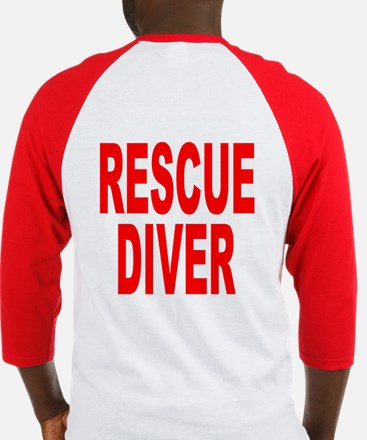 Rescue Diver Red Baseball Jersey