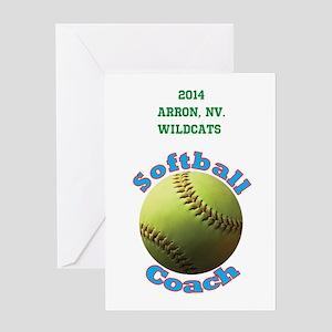 Softball Coach Greeting Cards