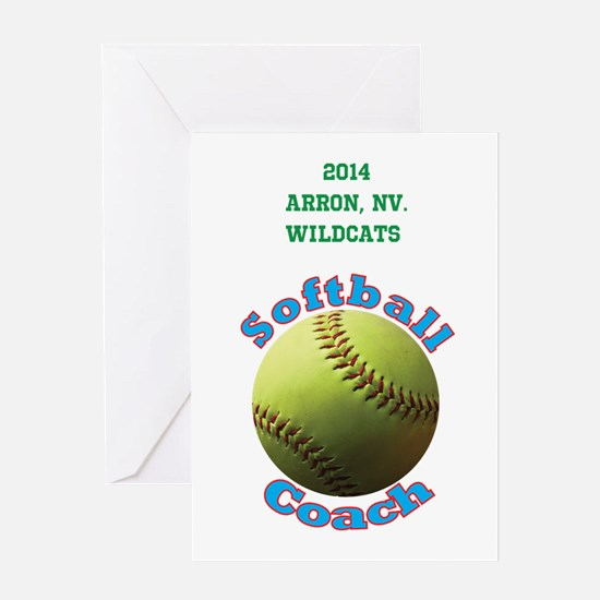 Softball Coach Greeting Cards