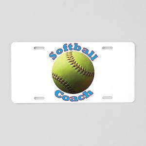 Softball Coach Aluminum License Plate