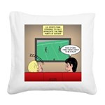 US and Soccer Square Canvas Pillow
