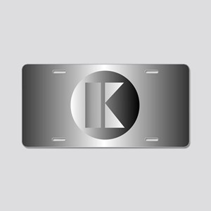 Polished Steel (K) Aluminum License Plate