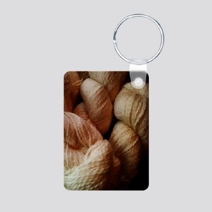 Mohair Yarn Aluminum Photo Keychain