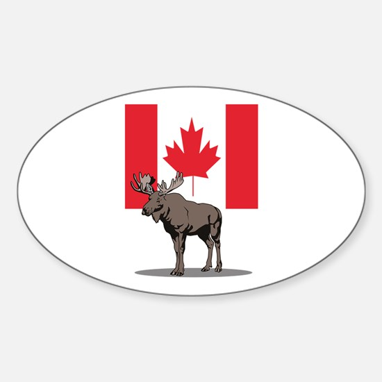 Canadian Moose Oval Decal