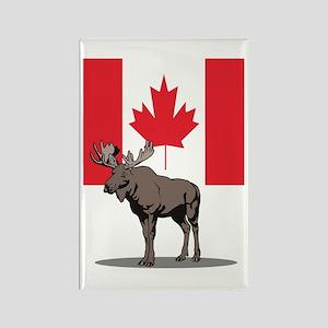 Canadian Moose Rectangle Magnet
