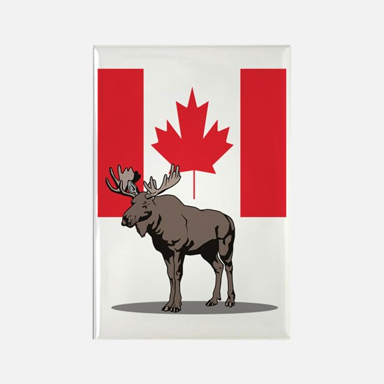 Canadian Moose Rectangle Magnet