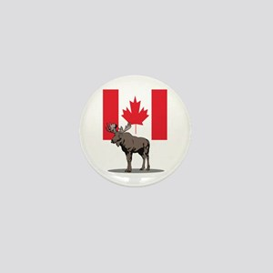 Canadian Moose Mini Button