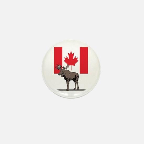 Canadian Moose Mini Button