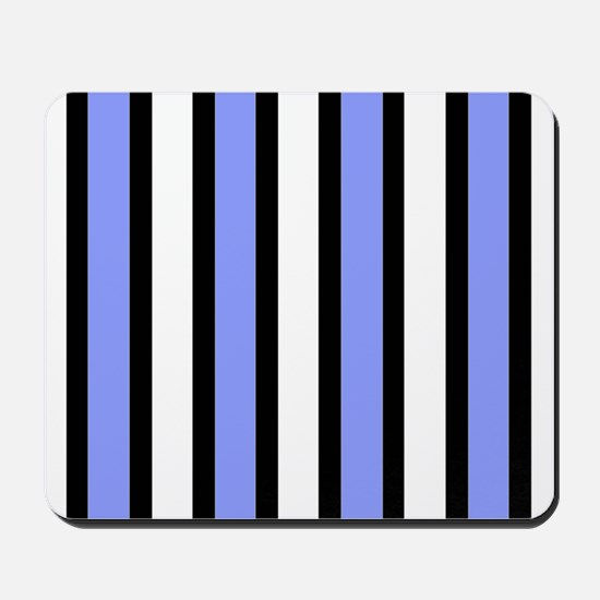 Black and Blue Stripes Mousepad