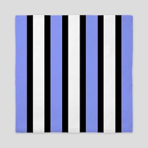 Black and Blue Stripes Queen Duvet
