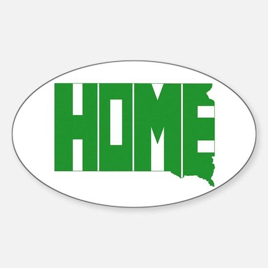 South Dakota Home Sticker (Oval)
